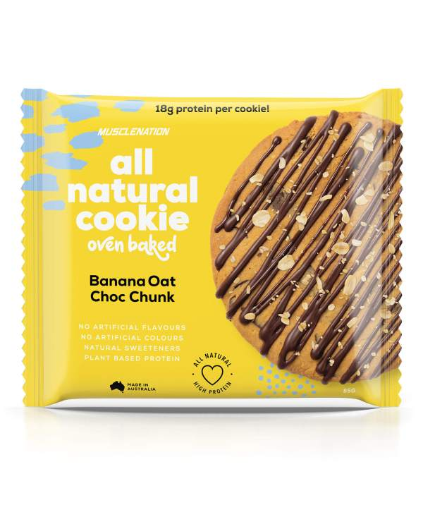muscle nation protein cookie banana oat