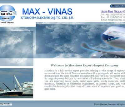 Maxvinas Website