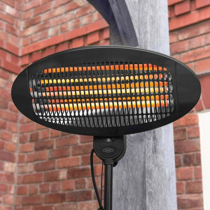 harrier rounded standing patio heater 9kg