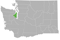 Kitsap County highlighted on Washington map