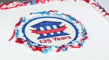 WSBA's 125th Anniversary cake