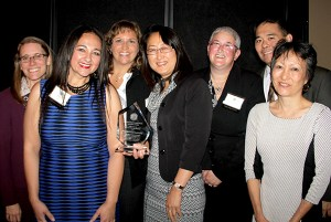Representatives of the Judicial Institute celebrate after receiving the Excellence in Diversity Award.