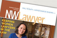 Cover of the April 2016 edition of NWLawyer