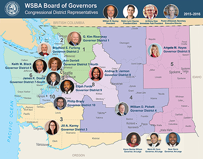 2015-2016 Board of Governors congressional district map