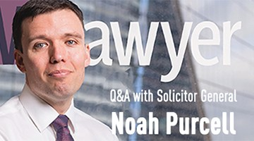 Noah Purcell on NWLawyer cover