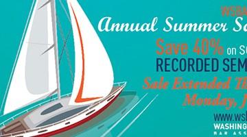 Summer Sale sailboat logo