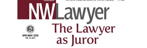April-May NWLawyer cover
