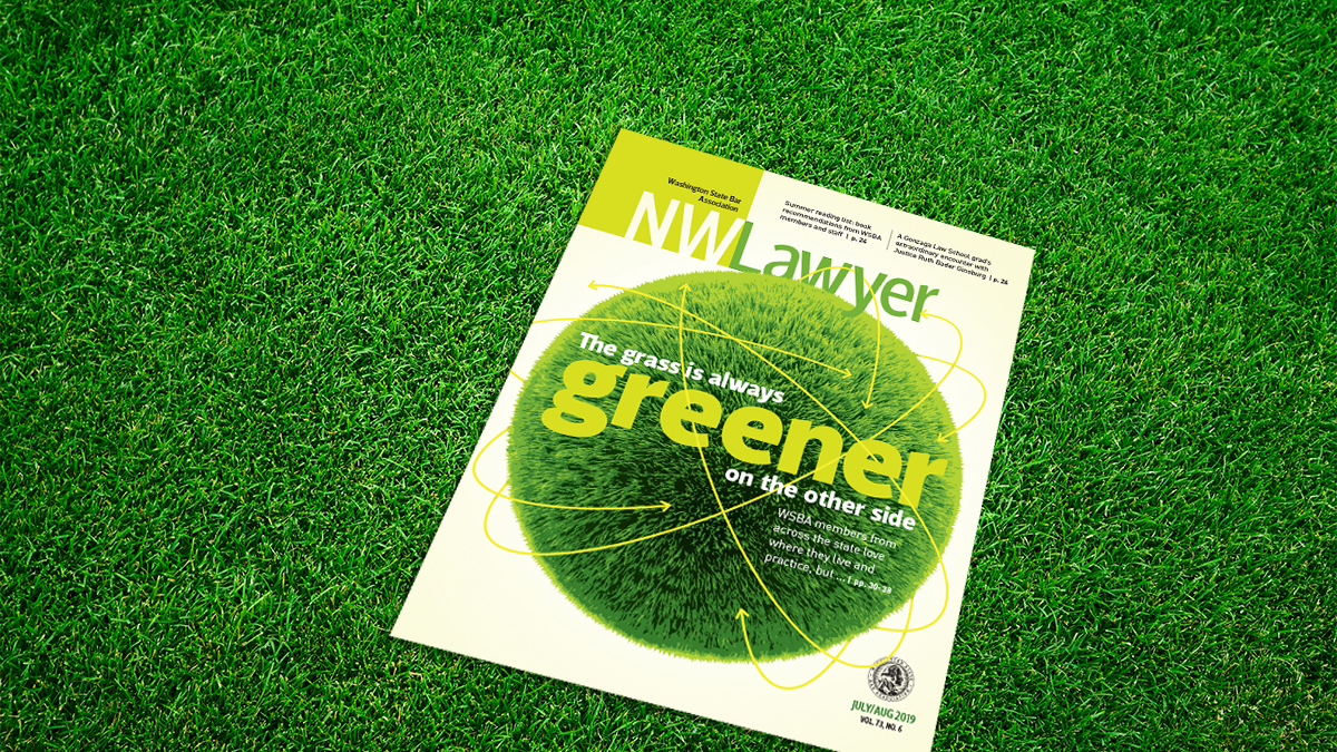 Cover of NWLawyer in the grass