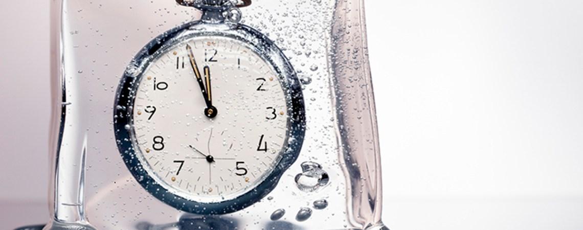 A frozen clock