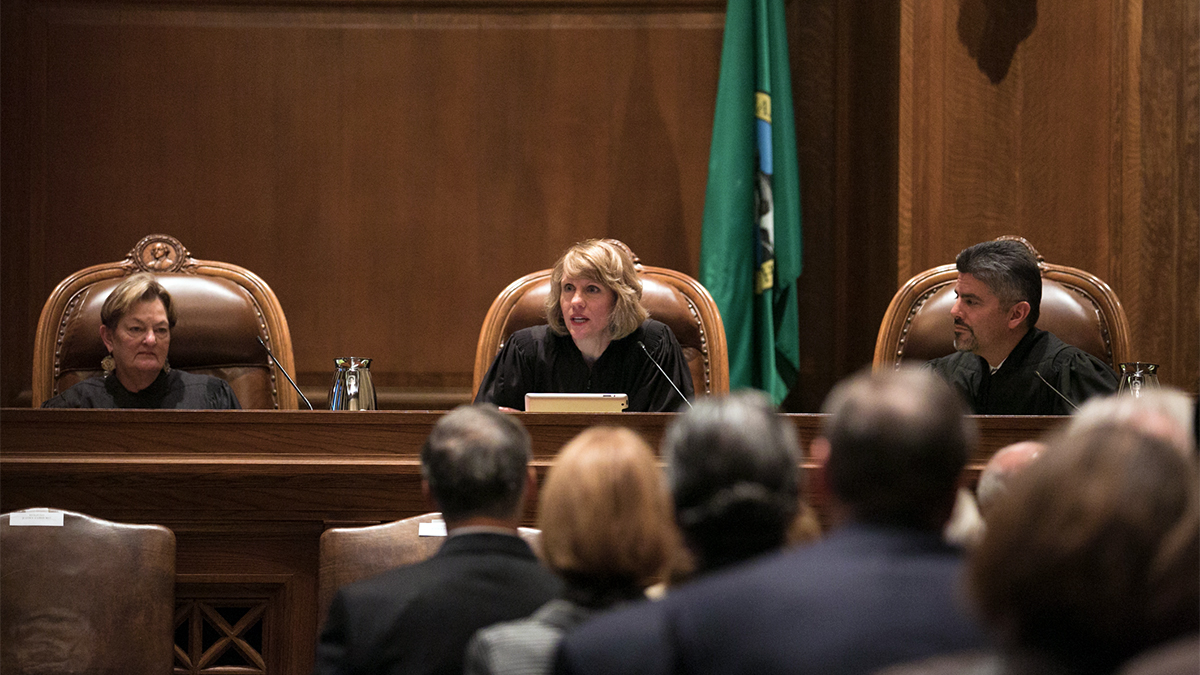 Washington Supreme Court Inauguration of Chief Justice Debra L. Stephens, Jan. 12, 2015