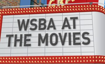 "Movie theater marquee: ""WSBA at the Movies"""