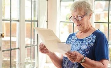 senior woman gets good news