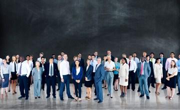 A diverse group of law grads