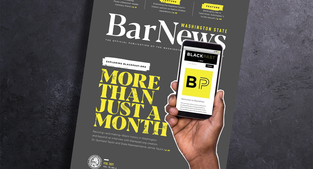 Cover of Bar News Feb 2021