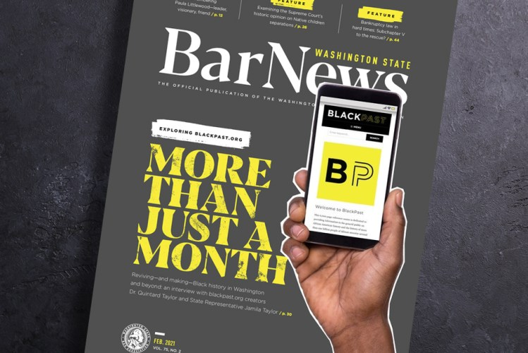 Cover of Bar News Feb 2021
