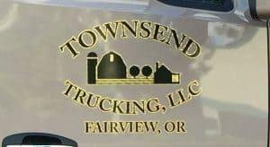 Logo wrap on semi truck
