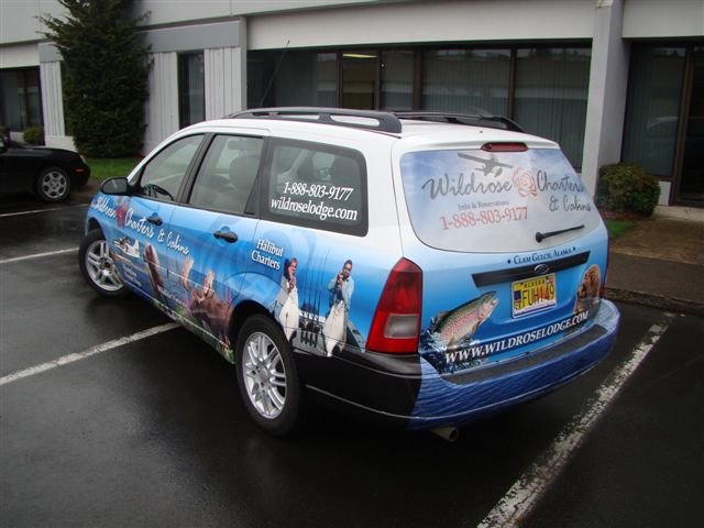 Wildrose Charters Car Wrap fleet wrap