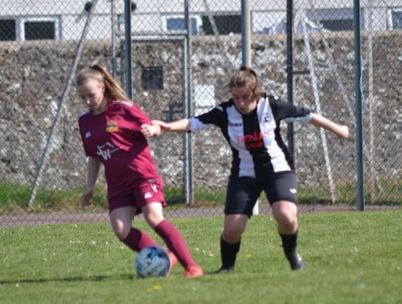Catrin Evans of Bethel FC is the 2018-19 Grassroots North Wales Young Women's Player of the Season