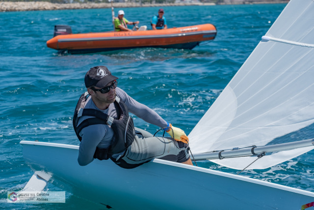 Ynys Môn's Dominic Breen-Turner sails into pole position on day four of the Island Games