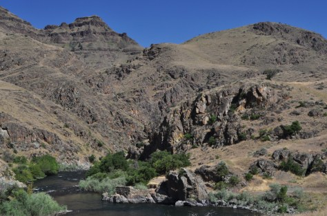 THE IMNAHA RIVER, SEEN HERE NEAR HELLS CANYON, WILL OPEN FOR SPRINGERS FROM ITS MOUTH 45 MILES UPSTREAM TO THE SUMMIT CREEK BRIDGE. (ROGER PETERSON, USFS)