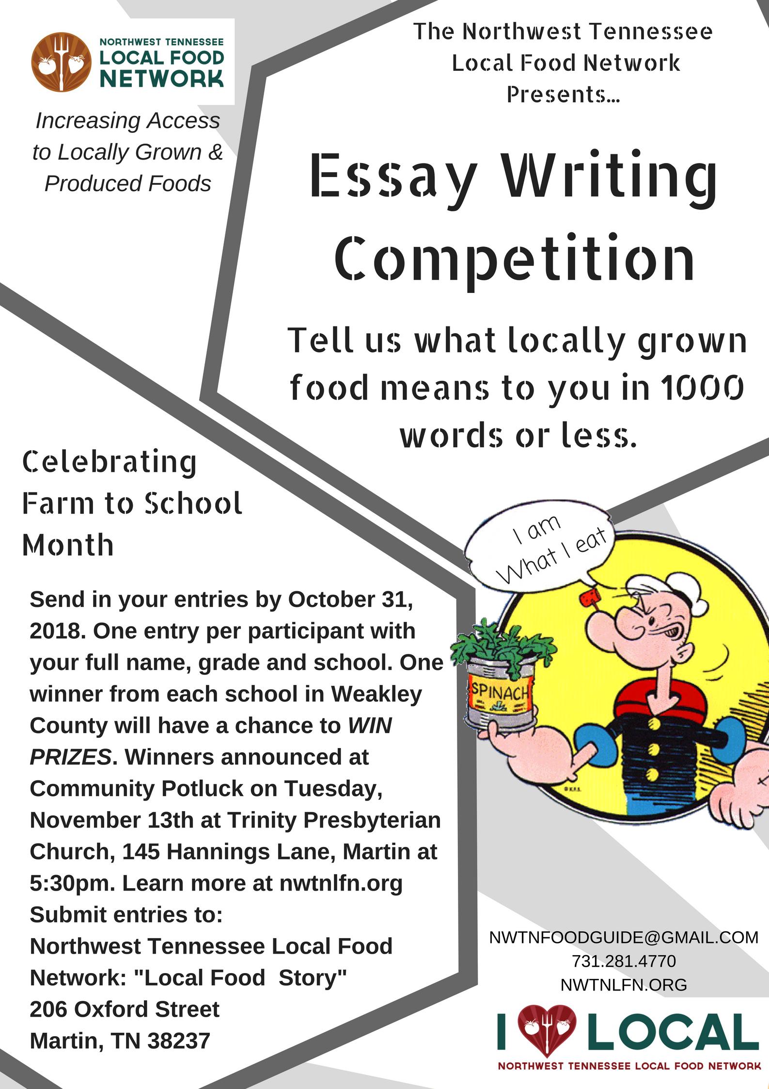 essay writing on food