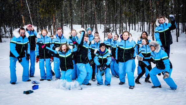 Team NT cross country skiers at AWG 2018
