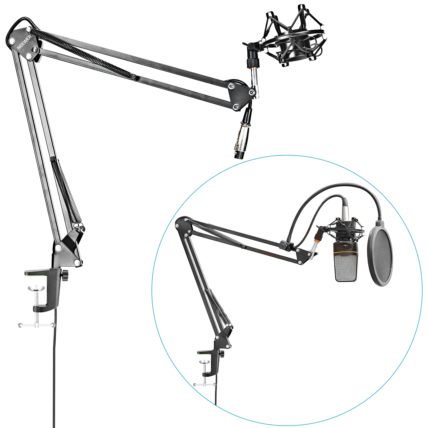 Neewer Nw 35 Microphone Suspension Boom Scissor Arm Stand
