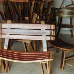 Adirondack Chair Kit Oversized Saucer Rocking Wine Barrel Furniture Plans Diy How To Make | Unusual64ijy