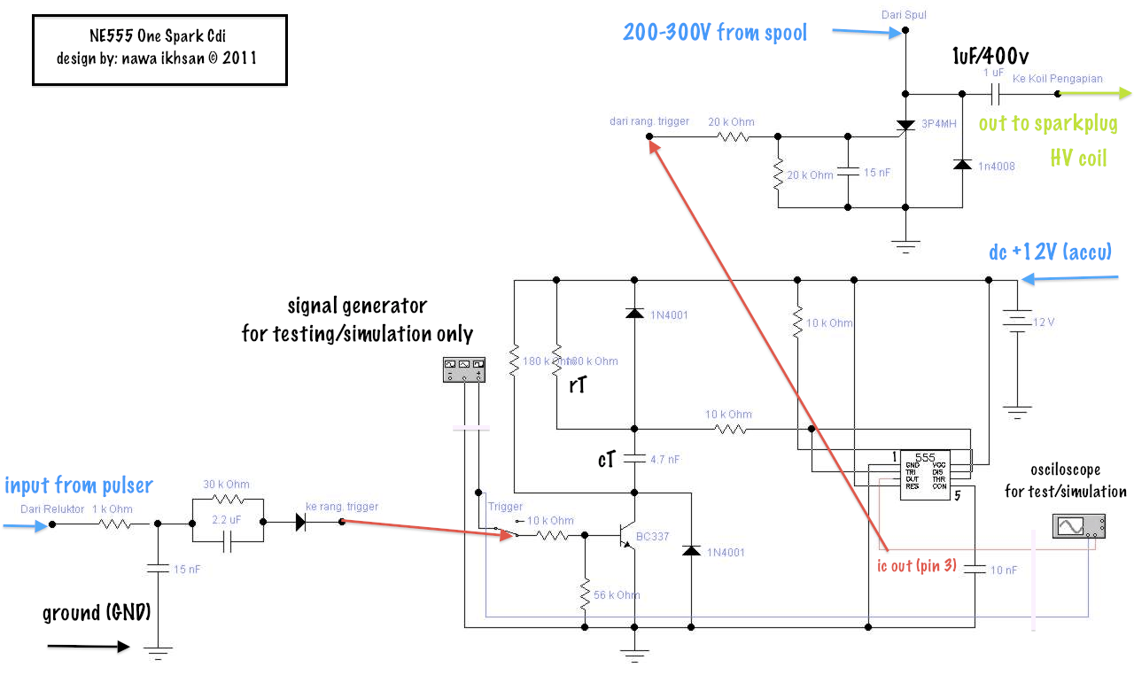 hight resolution of complete schematic ne555 cdi circuit