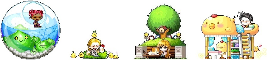 ice fishing chair maplestory revolving in kolkata cash shop update for january 10 make a new animal friend with the slimy scene chick keeper cat bench and chicken dream