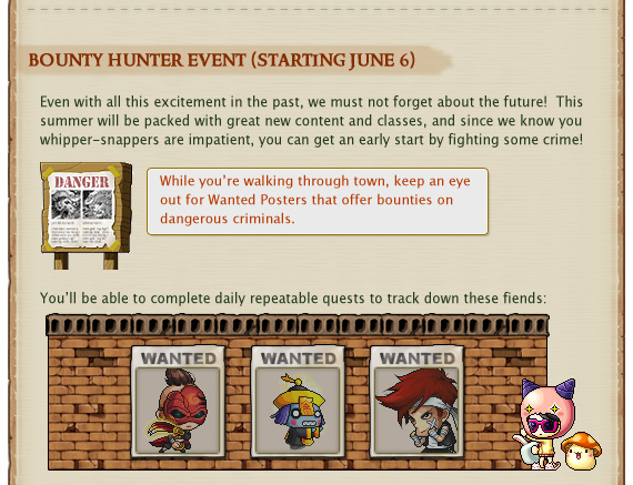 bounty hunter event (starting june 6)