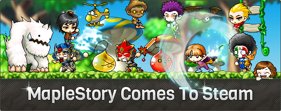 GMS Announcing MapleStory on Steam