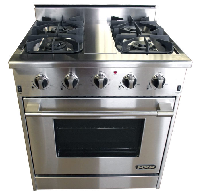 kitchen stove gas cabinet doors lowes nxr professional ranges grade stoves and cooking 30 oven interior inch in showroom