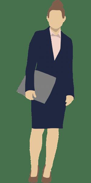 Illustratie vrouw in kostuum