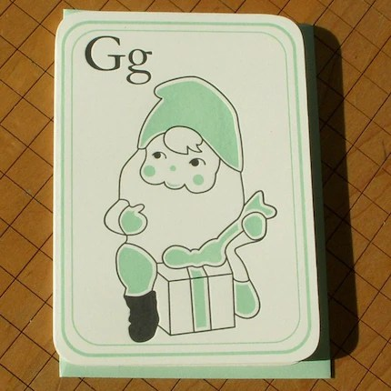 g is for gnome card pack