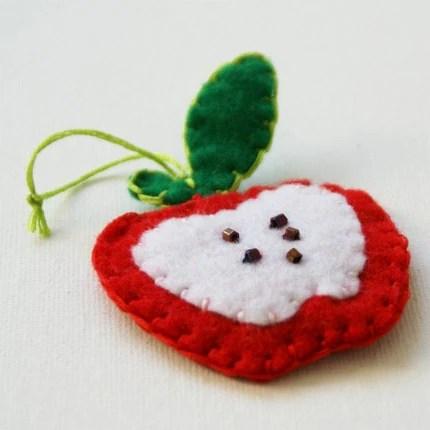 Felt Apple Ornament