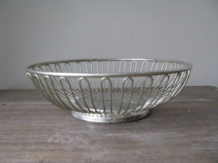 silver wire bread BASKET