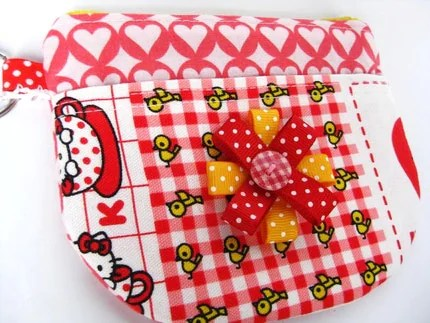 Crazy Hello Kitty Coin Purse (OOAK)