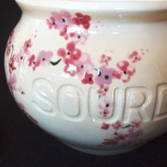 PINK FLOWER SOURDOUGH JAR WITH LID
