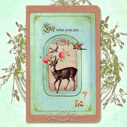 Love who you are...Deer  Moleskine cahier