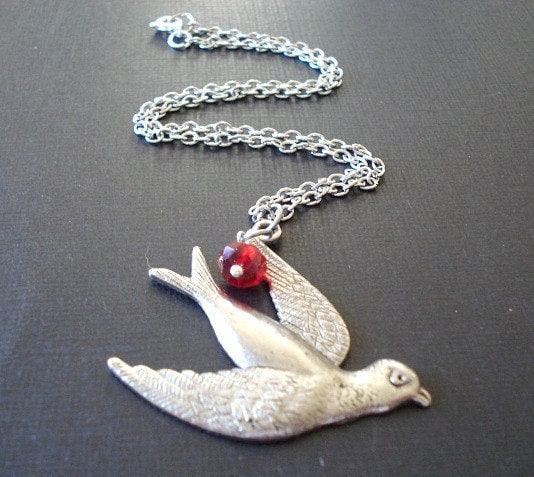 Winter Bird Necklace