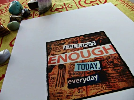 Enough Found Inspirations A4 Art Print (8x10)