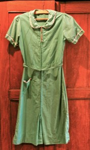Vintage 1940s Green House Dress with Ric Rac - AS IS