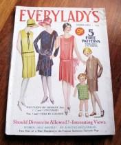 Vintage 1929 Everylady's  Magazine with 3 unused patterns