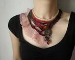 Eurystomella Bilabiata ...  Freeform Beaded Crochet Necklace