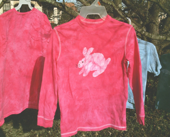 pink batik BUNNY tshirt youth med long-sleeve