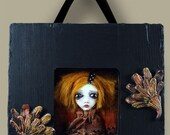 Art Doll Wall Hanging GHOST IN A PICTURE FRAME Clarice