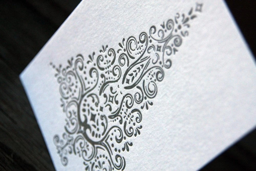 Silver Tree Holiday Letterpress Cards (set of 5)
