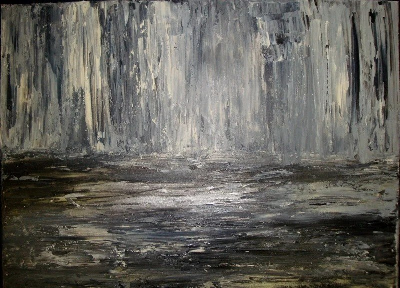 Sombre...Large Original Abstract Art