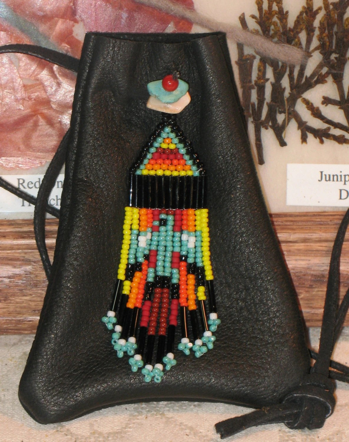 SOARING SPIRITS ... Large Beaded Thunderbird Medicine Bundle